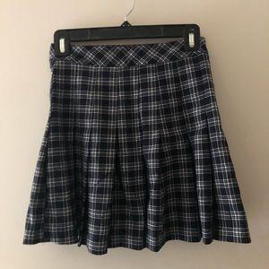 H&M Plaid Pleated Skirt